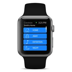The Crestron app for Apple Watch™ revolutionizes how people interact with their homes