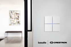 Basalte Multi-Functional, Touch-Sensitive Keypads Are Now Crestron Connected® Devices