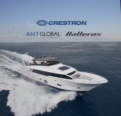 Crestron, Hatteras, and AHT Global Partners to Deliver a Range of Premium AV for Motor Yachts