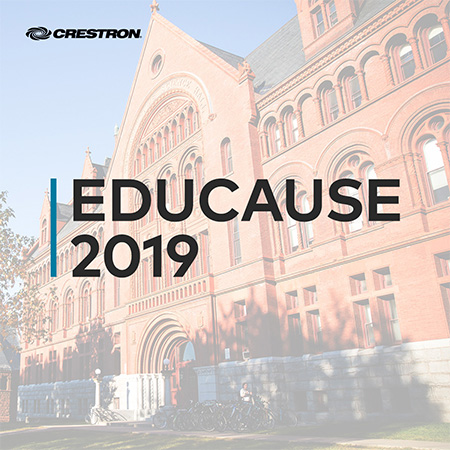 Crestron Showcasing Simple, Consistent Experience in Every Campus Space at EDUCAUSE® Annual Conference 2019