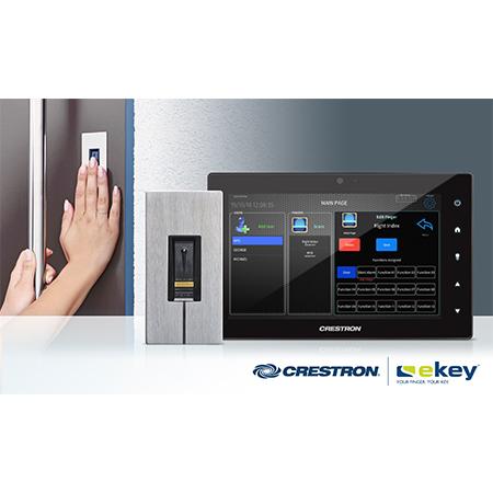 Crestron Partners with ekey to Deliver Fingerprint Door Entry to Crestron Smart Homes