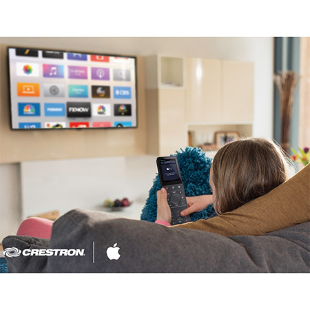 Crestron Smart Home Delivers Even More Lifestyle-Changing Enhancements with New Support for Apple TV
