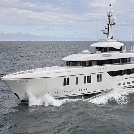 AV Control is Easy to Navigate Aboard 73m Super Yacht