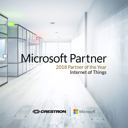 Crestron Wins 2018 Microsoft Global IoT Partner of the Year Award
