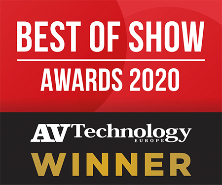 2020 AV Technology Europe Best of Show at ISE