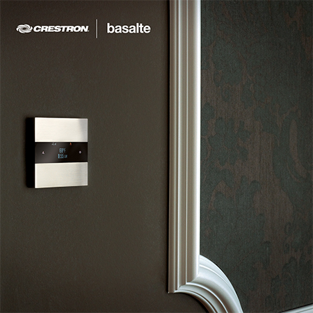 Basalte Deseo Line of Room Controllers is  Now Crestron Connected®