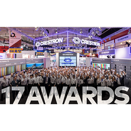 Crestron Wins Company-Best 17 Industry Awards at Integrated Systems Europe 2019