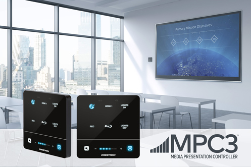Crestron Introduces Advanced 3-Series® Wall Mount Media Presentation Controllers