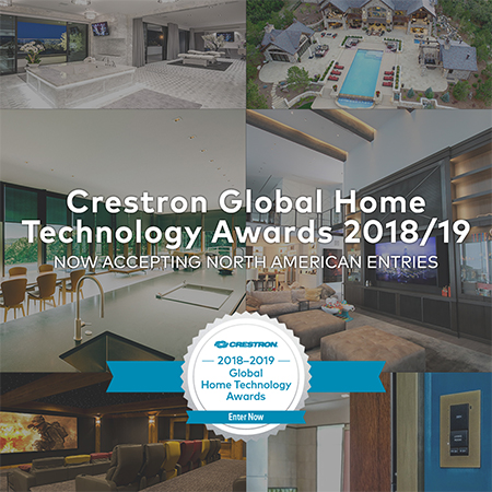 Crestron Now Accepting North American Entries for 2018 Global Home Technology Awards
