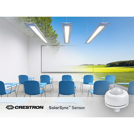 Crestron to Unveil SolarSync™ Color Temperature Daylight Sensor at LightFair® International 2018