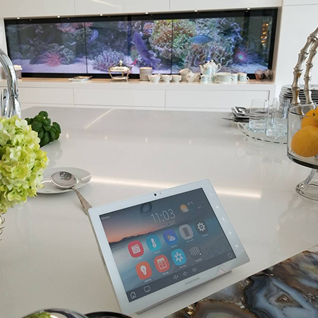 Digital Backsplash Brings Ingenuity to Ontario Home