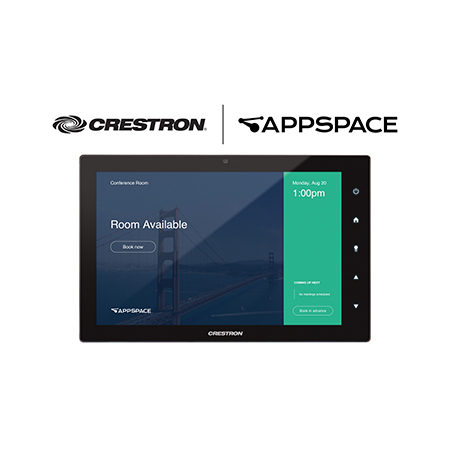 Crestron Debuts New Scheduling-Only Touch Screens with Native Partner Room Booking and Optional Room Availability Light Bar