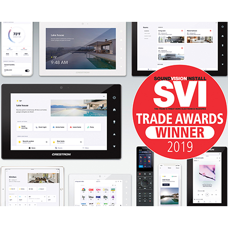 Crestron Wins Seven SVI Trade Awards for 2019 Including Gold for Best Manufacturer