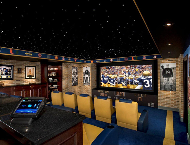 Notre Dame-Themed Home Theater